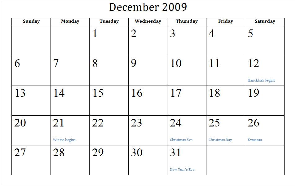 2008 2009 Calendar