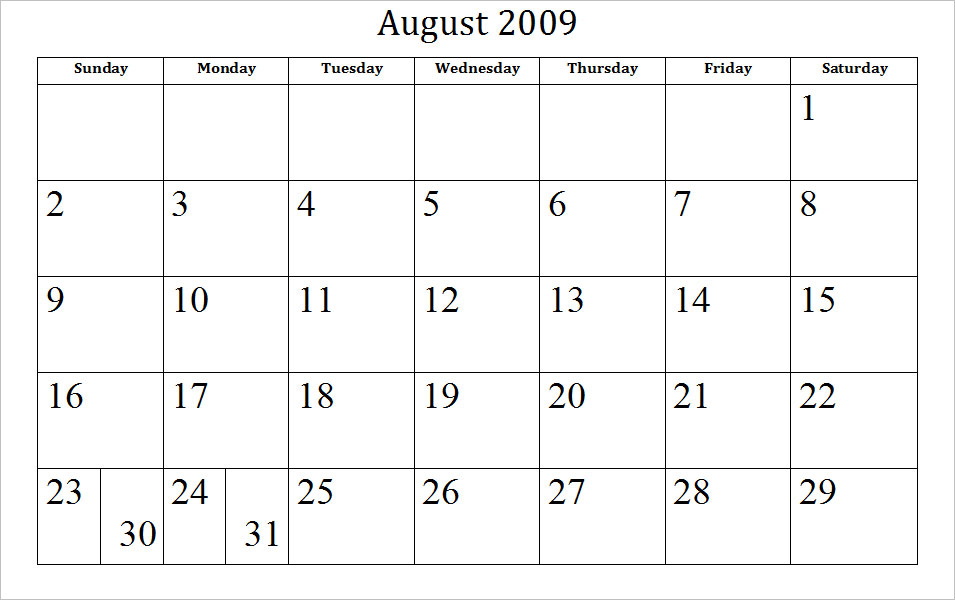 Printable 2012 Calendar - Blank Printable.