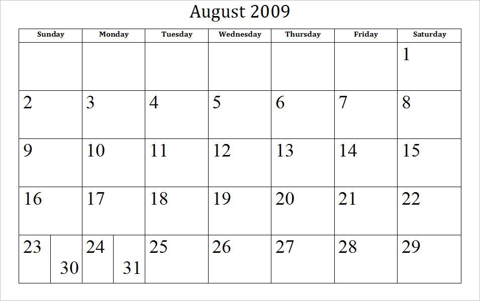 2009 Archive Calendars